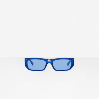 Balenciaga Shield Rectangle Sunglasses