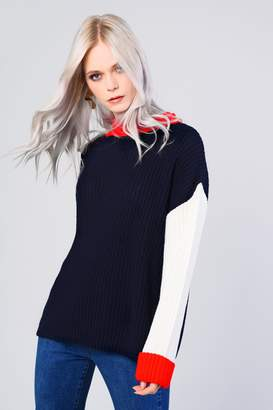 Glamorous Womens **Colour Block Knitted Jumper By Multi