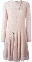Stella McCartney lace zip detail dress - women - Silk/Cotton/Polyamide - 40