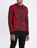Balmain Tiger-print cotton-jersey sweatshirt