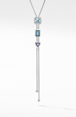 David Yurman Novella Stone & Diamond Y-Necklace