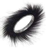 Betsey Johnson xox Trolls Faux-Fur Bangle Bracelet, Only at Macy's