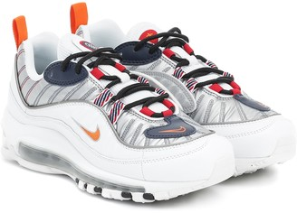 Nike 98 leather and mesh sneakers