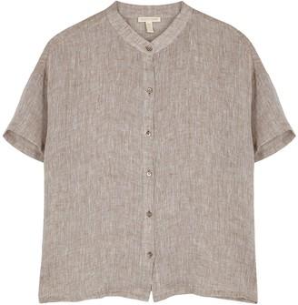 Eileen Fisher Light brown linen shirt