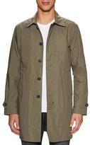 John Varvatos Spread Collar Rain Coat