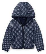 Ralph Lauren Polka-Dot Quilted Jacket Navy/White 2T