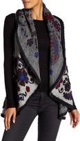 Luma Embroidered Wool Blend Sleeveless Coat