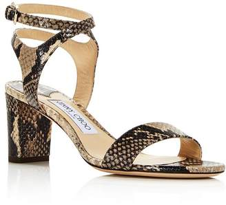 Jimmy Choo Women's Marine Snakeskin-Embossed Leather High-Heel Sandals - 100% Exclusive