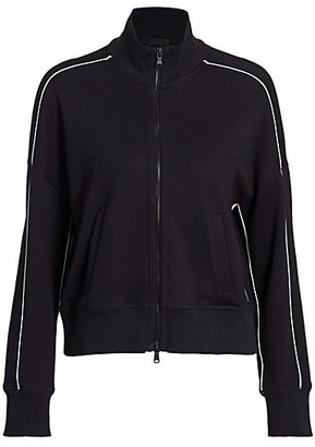 ATM Anthony Thomas Melillo French Terry Piped Zip-Up Jacket
