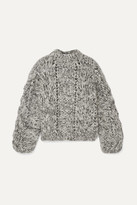 Ganni Mohair And Wool-blend Sweater - Black