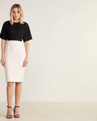Narciso Rodriguez Virgin Wool Color Block Sheath Dress