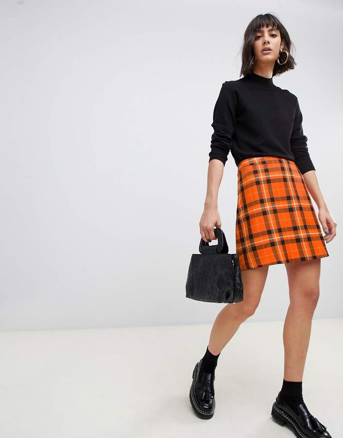 cebe4f07a00a79 Mini Skirt Checked - ShopStyle UK
