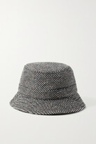 Thumbnail for your product : Gabriela Hearst Checked Cashmere-tweed Bucket Hat - Black