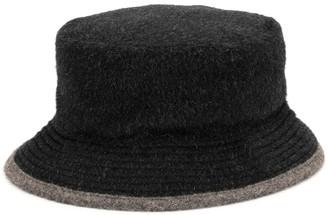 Hermes Two-Tone Alpaca Bucket Hat