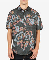 Volcom Men's Cubano Floral-Print Cotton Pocket Shirt