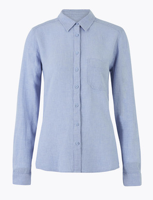 Marks and Spencer Linen Long Sleeve Shirt