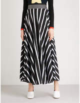 Diane von Furstenberg Striped woven midi skirt