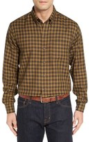 Cutter & Buck 'Crown' Regular Fit Plaid Sport Shirt