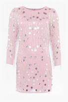 French Connection Baani Fringe Beaded Tunic Dress