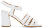 Maryam Nassir Zadeh White Palma High Sandals