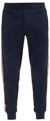 Moncler Side-stripe Cotton Track Pants - Navy