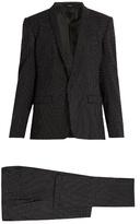 Dolce & Gabbana Shawl-collar Pin-dot Print Wool Suit