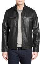 Cole Haan Men's Lambskin Leather Moto Jacket