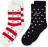 Gant Boy's O. Stars & Stripes Gift Box Socks (Pack of 2)