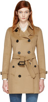 Burberry Camel Kensington Trench Coat