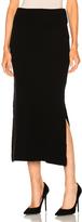 Ryan Roche FWRD Exclusive Maxi Skirt in Black.