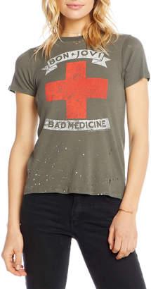 Chaser Bon Jovi Bad Medicine Distressed Graphic Tee