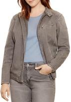 Lauren Ralph Lauren Plus Stretch Denim Moto Jacket
