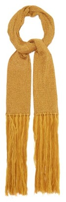 Missoni Fringed Metallic Rib-knitted Scarf - Gold