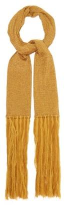 Missoni Fringed Metallic Rib-knitted Scarf - Womens - Gold