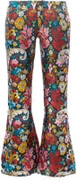 Marques Almeida Marques'almeida floral-printed cropped trousers
