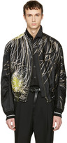 Haider Ackermann Black Embroidered Bomber Jacket