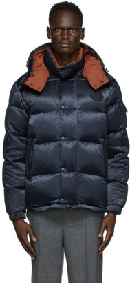 MONCLER GENIUS 2 Moncler 1952 Reversible Navy and Brown Down Kolyma Jacket