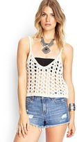 Forever 21 FOREVER 21+ Open-Knit Crop Top