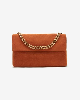 Express Soft Suede Chain Bag