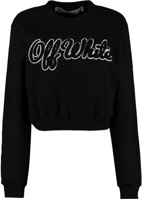 Off-White Off White Cotton Crew-neck Sweatshirt