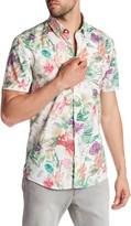 Lindbergh Floral Print Short Sleeve Shirt