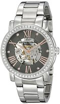 Stuhrling Original Legacy 629 Women's Automatic Watch with Grey Dial Analogue Display and Silver Stainless Steel Bracelet 629.03