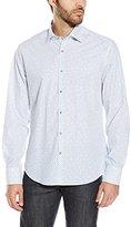 Stone Rose Men's Geometric Print Long Sleeve Button Down Shirt