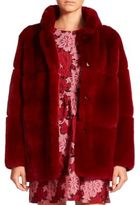 P.A.R.O.S.H. Quark Hooded Rabbit Fur Coat