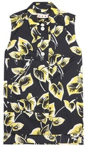 Marni Sleeveless Floral-printed Shirt