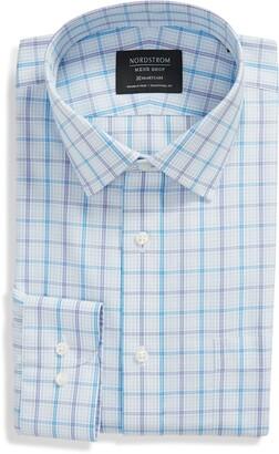 Nordstrom Trim Fit Medium Check Dress Shirt