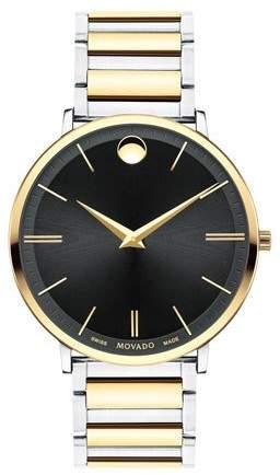 Movado Men's Ultra Slim Two-Tone Watch