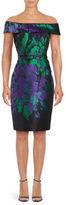 Teri Jon Off-the-Shoulder Floral Sheath Dress