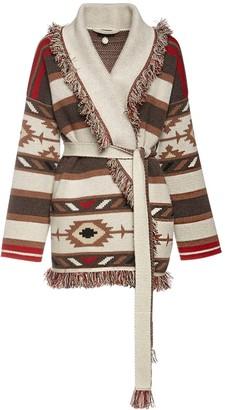 Alanui Fringed Knit Cashmere Jacket