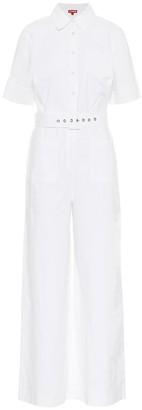 STAUD Safari linen and cotton jumpsuit